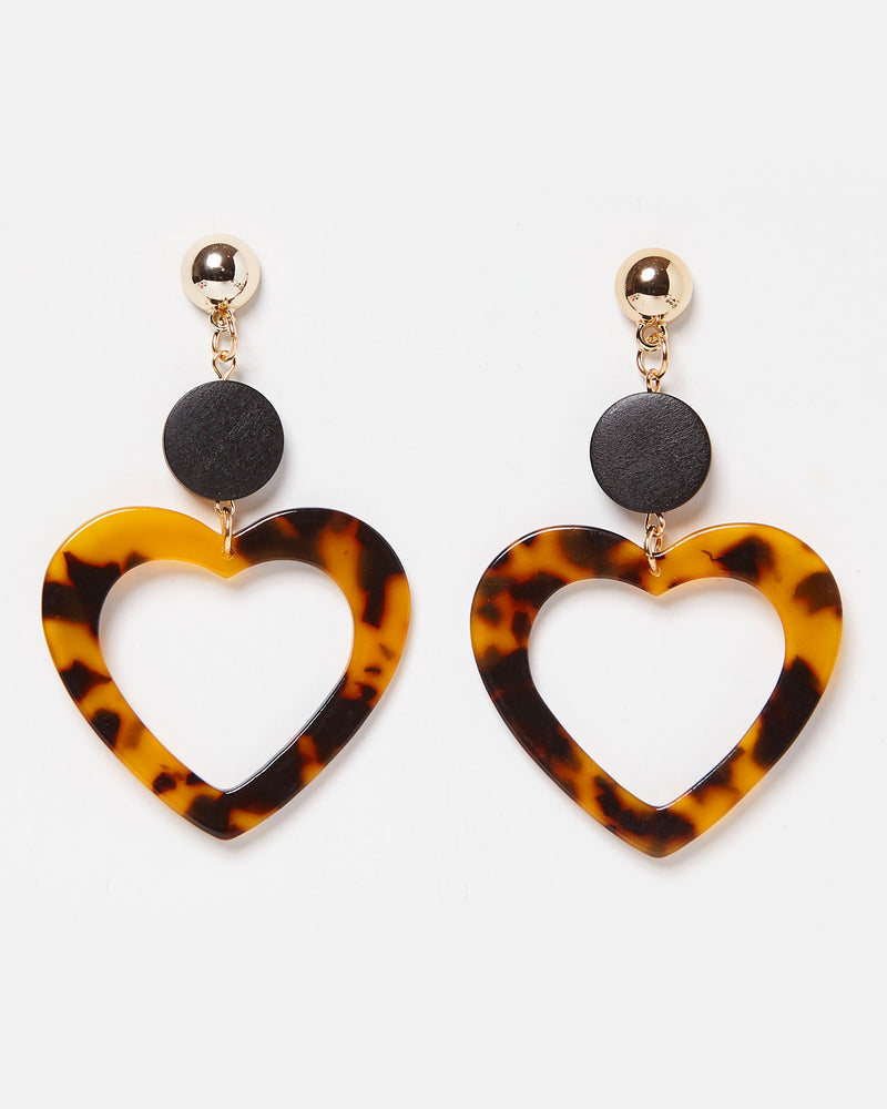 Izoa Adoro Earrings Tortoise Shell