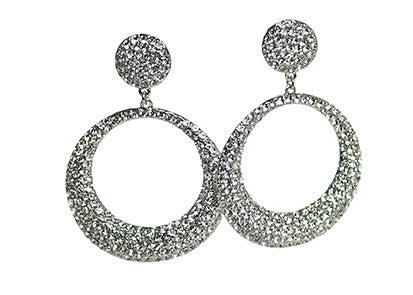 Izoa Silver Adriana Round Earrings