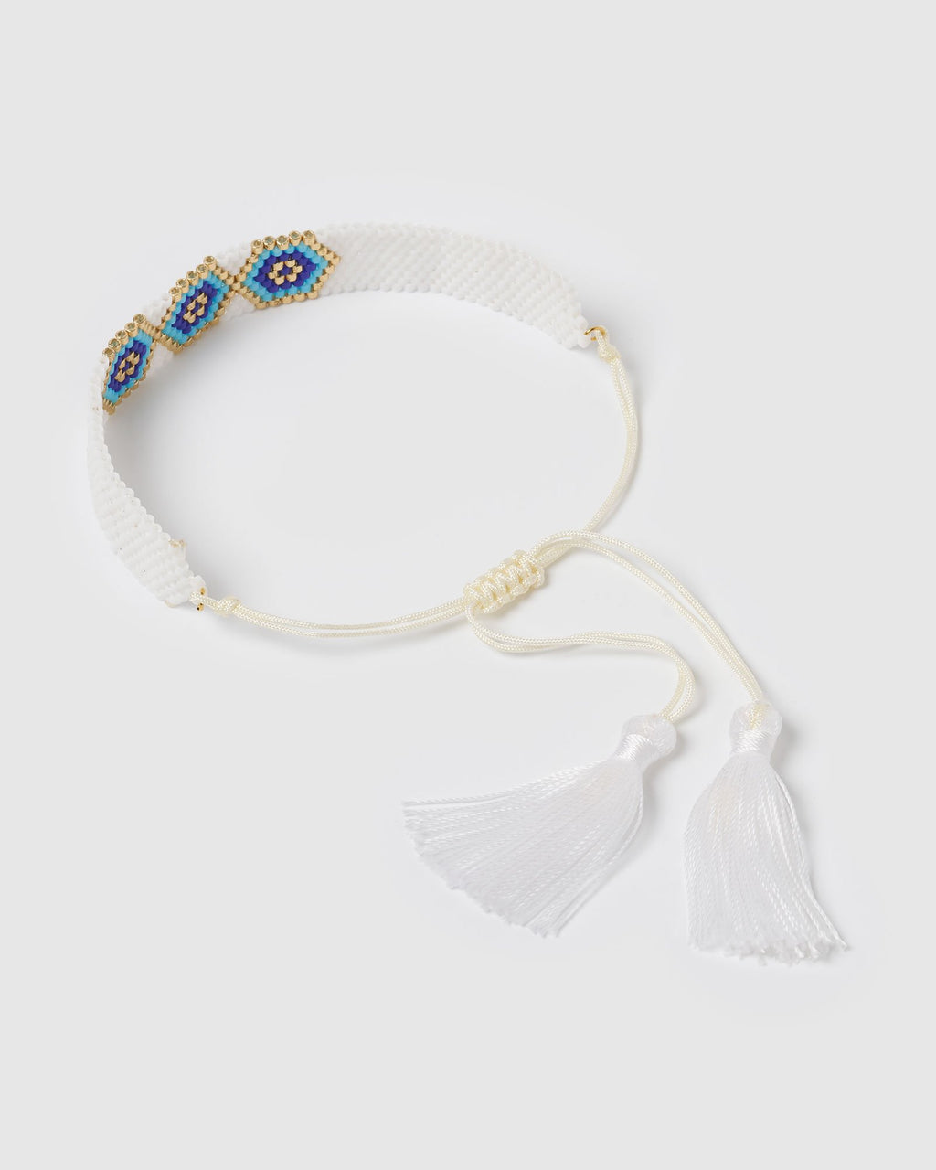 Miz Casa & Co Amara Bracelet White Blue