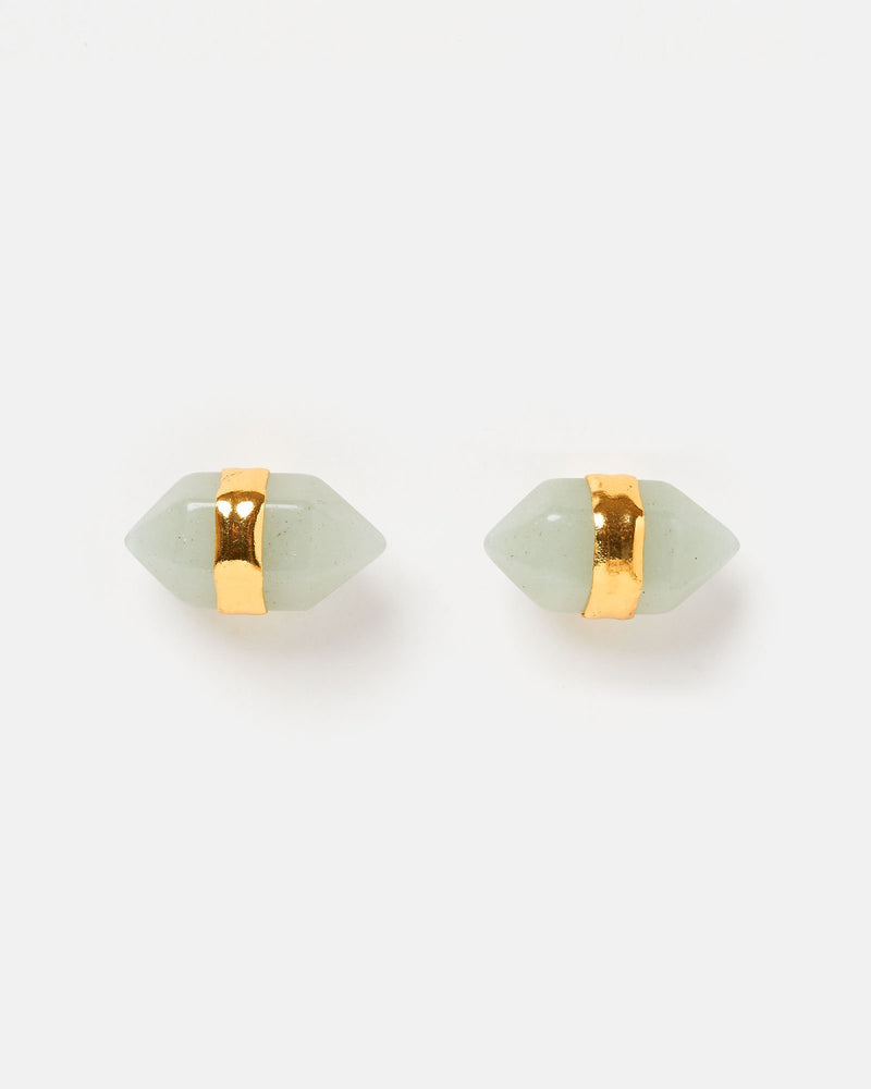 Miz Casa & Co Angel Fish Stud Earrings Jade Gold