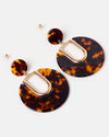 Izoa Animalia Earrings Tortoise Shell