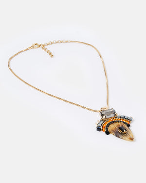 Izoa Antiquity Necklace Amber Gold