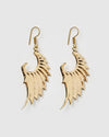 Miz Casa & Co Archangel Earrings Antique Gold