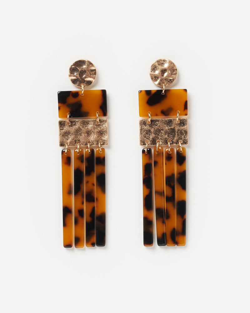 Izoa Archipelago Earrings Tortoise Shell
