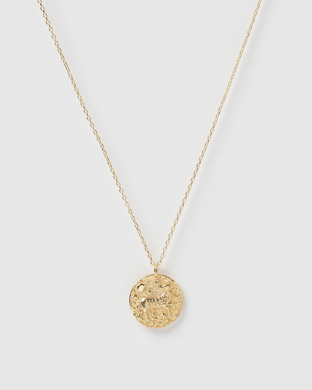 Izoa Star Sign Necklace Aries Gold