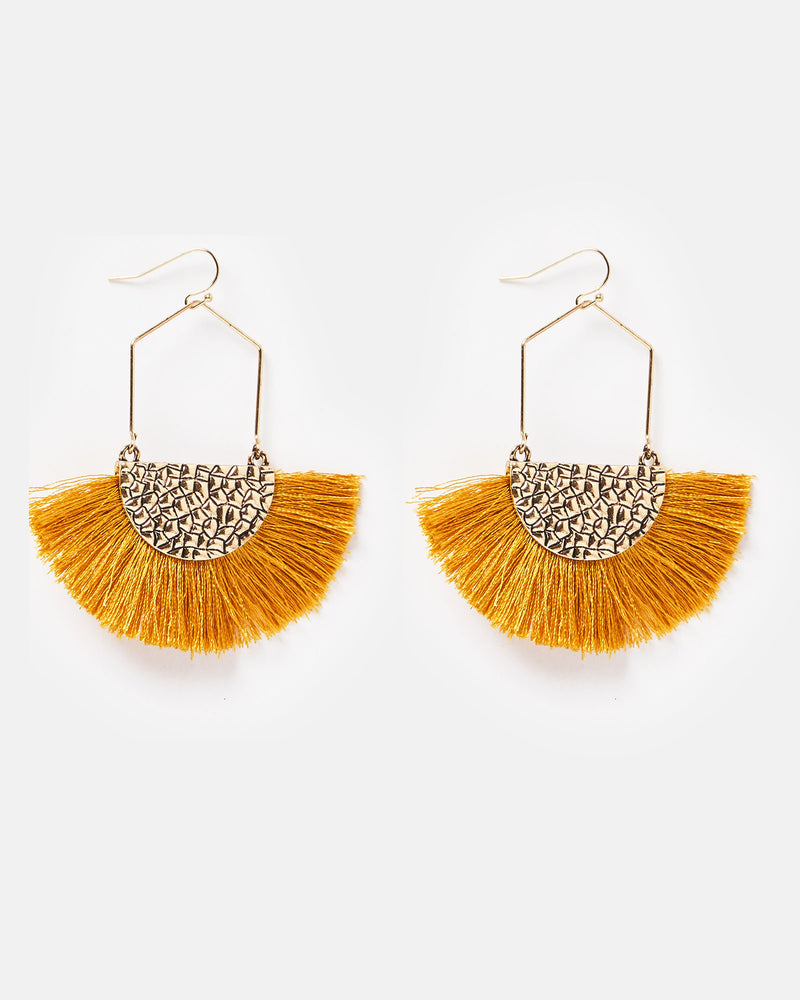 Izoa Athena Earrings Mustard