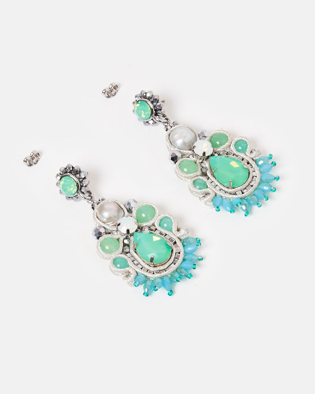 Izoa Atlantis Earrings Blue Green