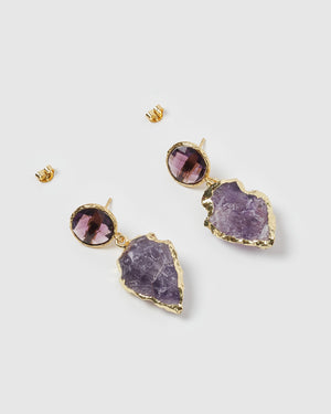 Miz Casa & Co Atlis Earrings Amethyst