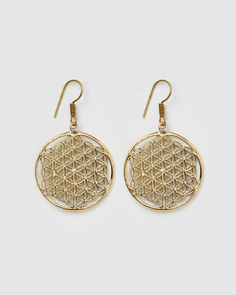 Miz Casa & Co Avery Earrings Antique Gold