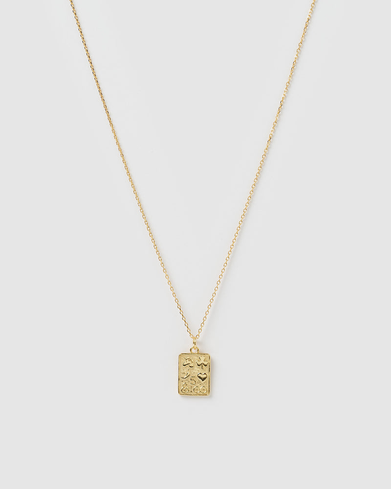 Izoa Allure Charm Pendant Necklace Gold