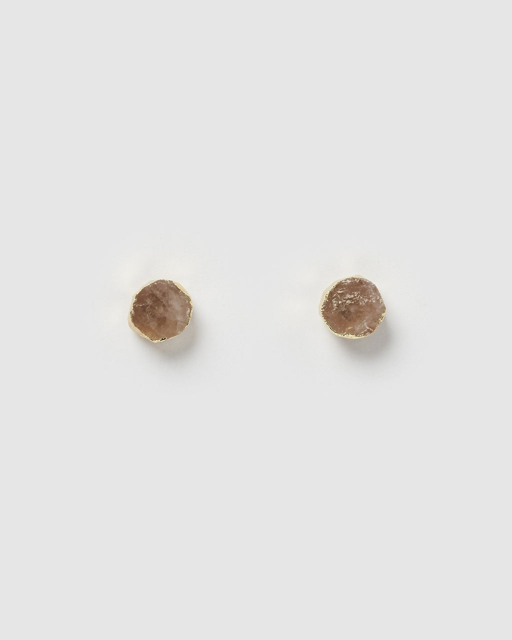 Miz Casa & Co Anenome Stud Earrings Rose Quartz