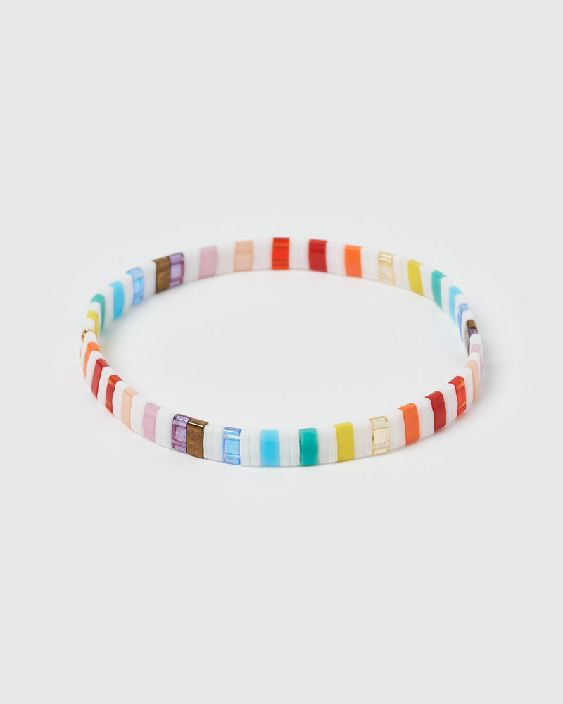 Izoa Angeline Beaded Bracelet Rainbow