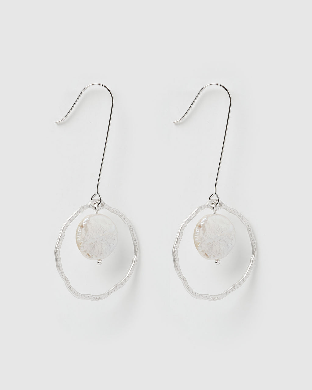 Izoa Astonish Earrings Silver Freshwater Pearl