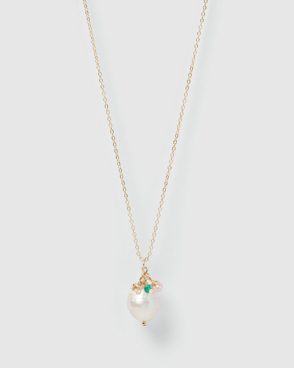 Miz Casa & Co Avalon Pearl Pendant Necklace With Beads Gold Pearl