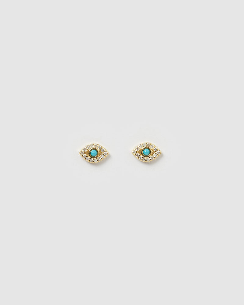 Izoa Rima Eye Stud Gold