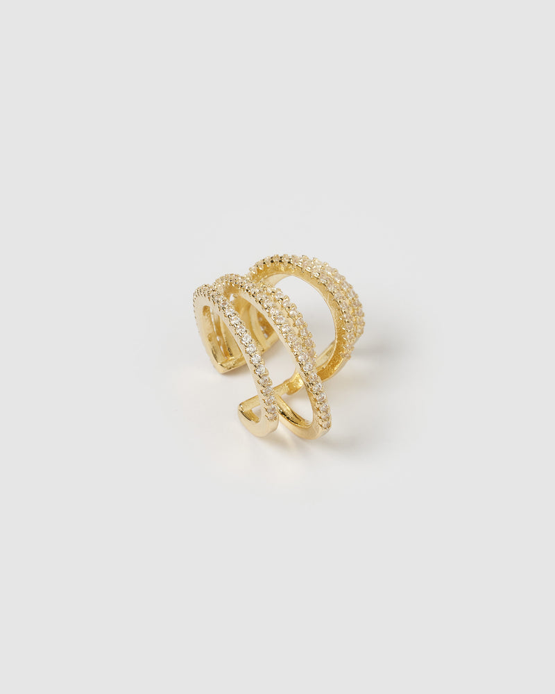 Izoa Millie Ear Cuff Gold
