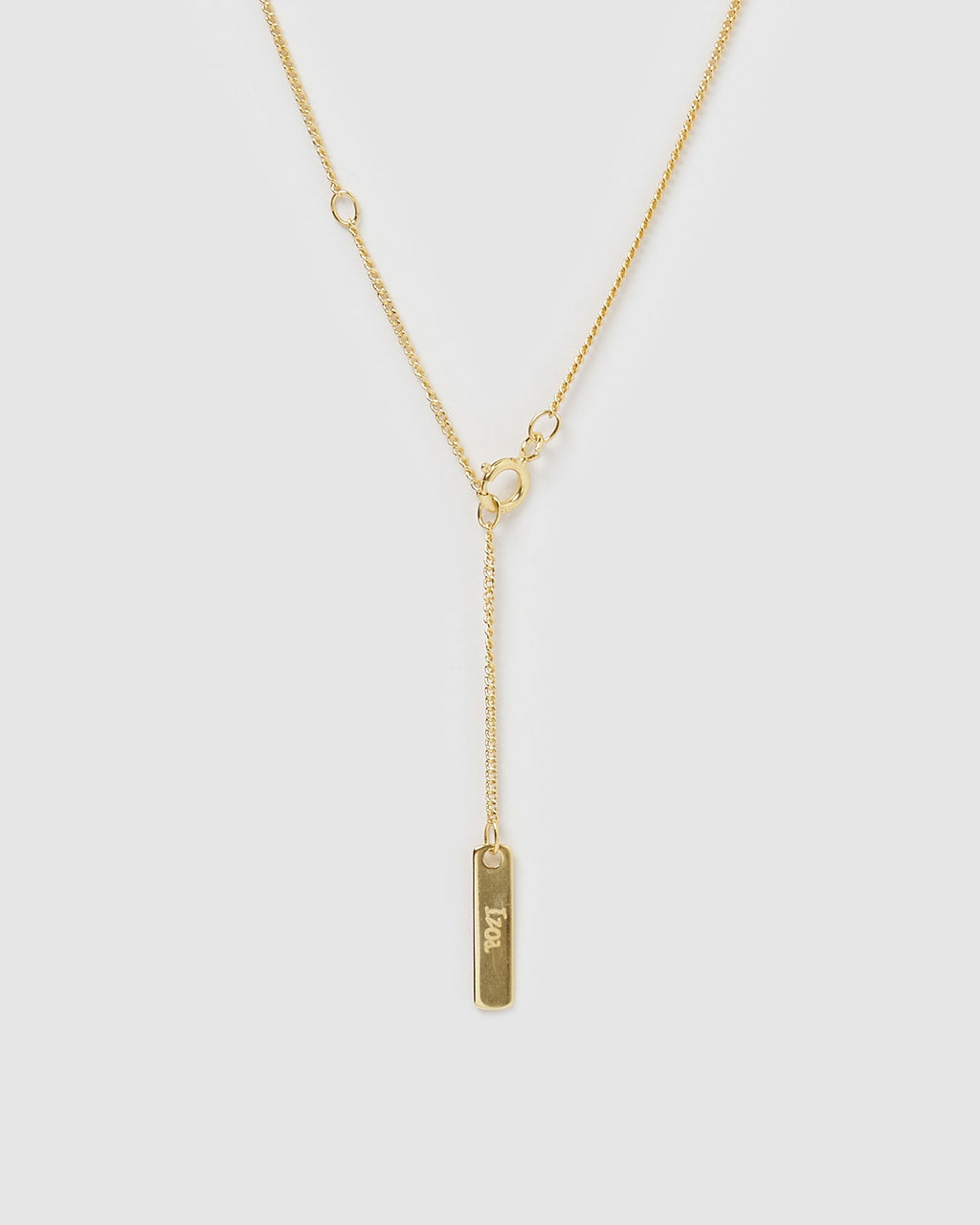 Izoa Alphabet Letter G Necklace Gold