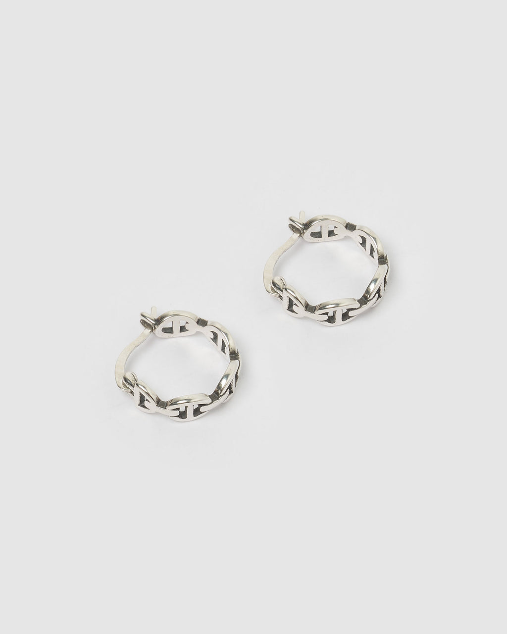 Izoa Dymo Mini Hoop Earrings Silver