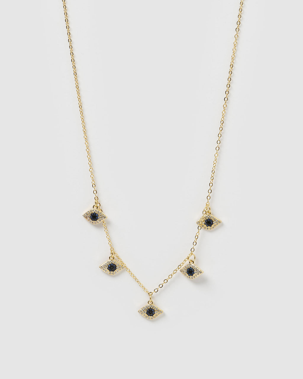 Izoa Jamie Evil Eye Choker Necklace Gold
