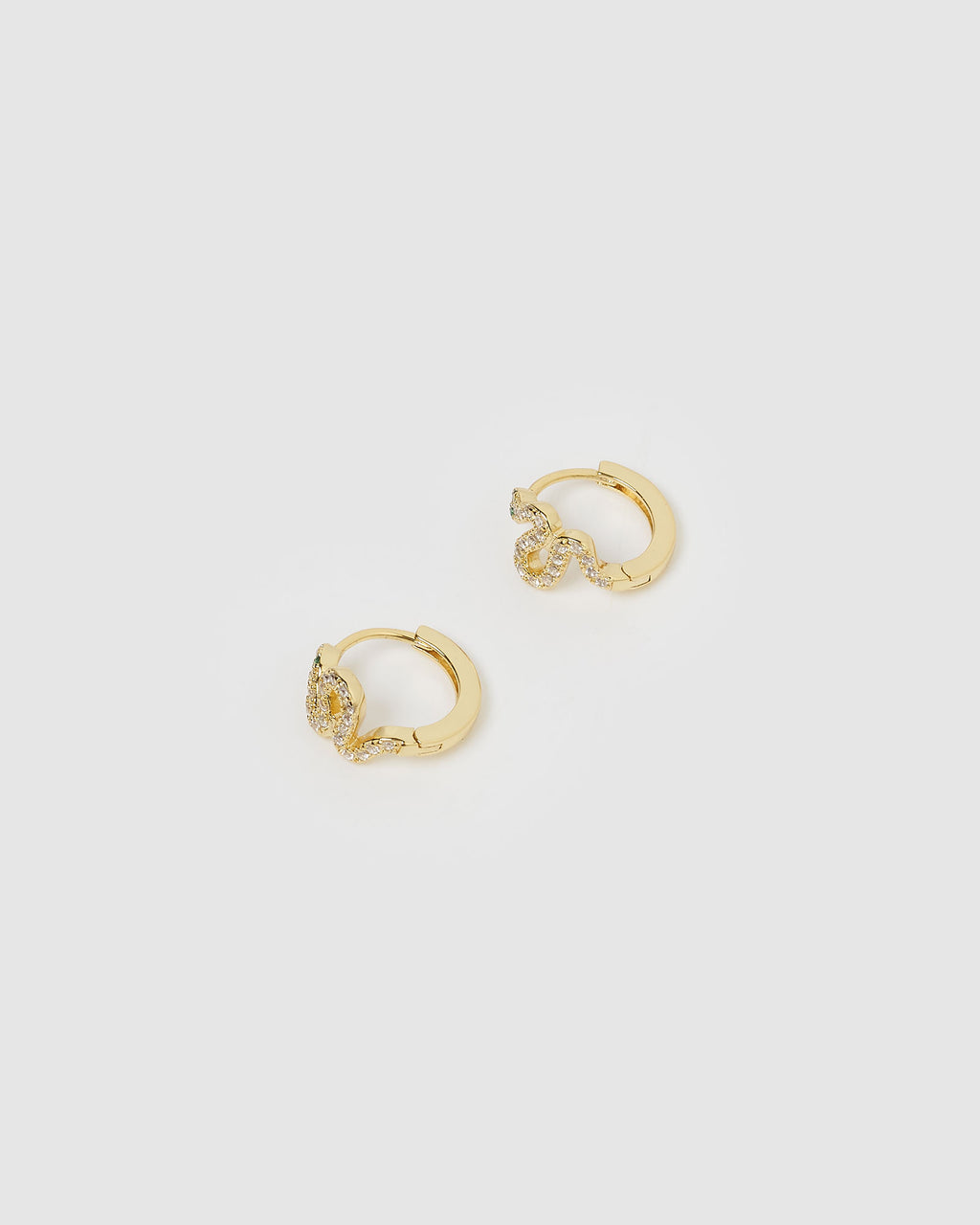 Cobra Huggie Earrings Gold