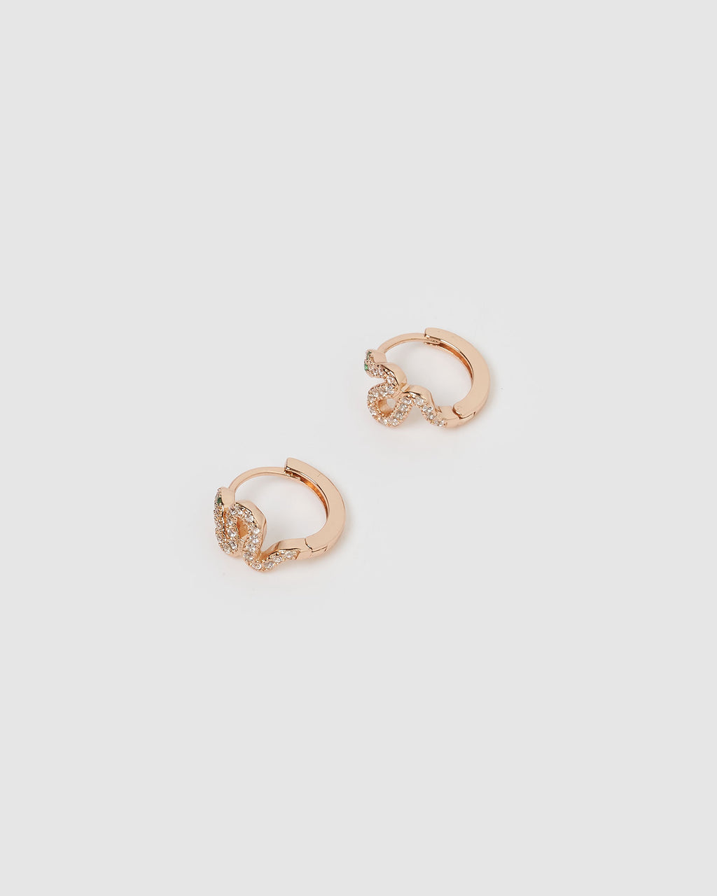 Cobra Huggie Earrings Rose Gold