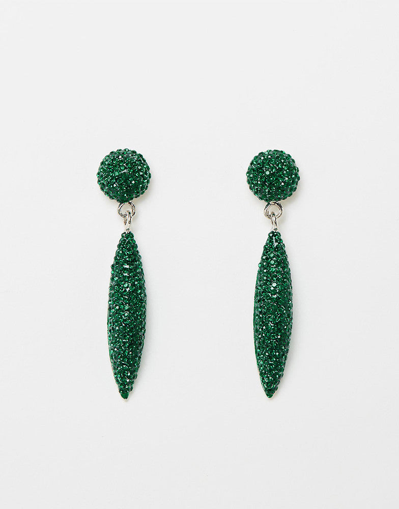 Izoa Bailey Earrings Emerald