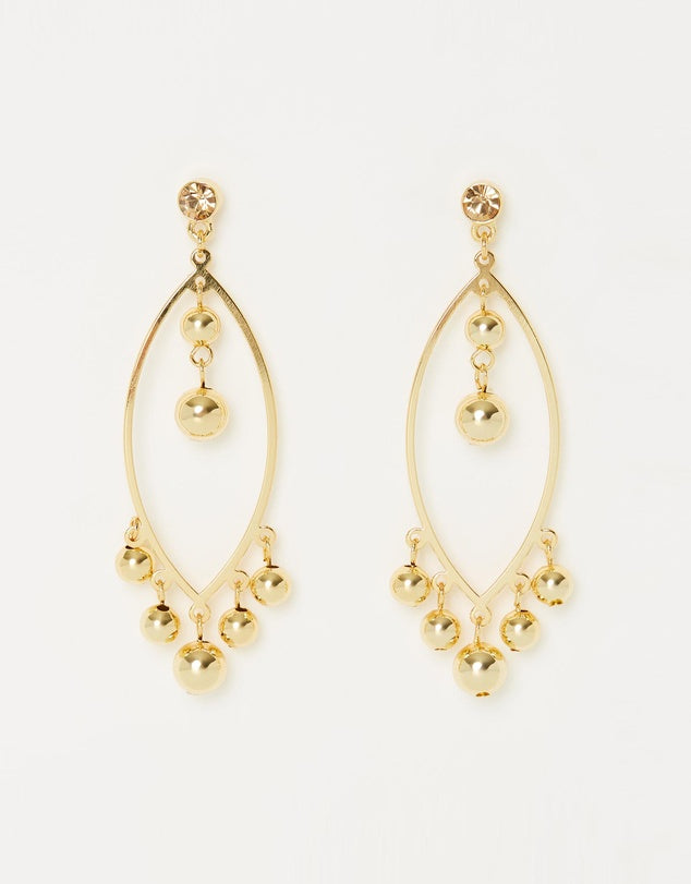 Izoa Bells Earrings Gold