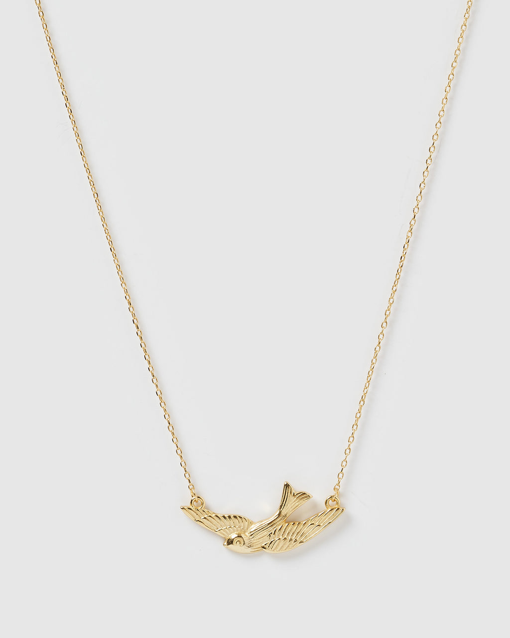 Izoa Beneath My Wings Necklace Gold