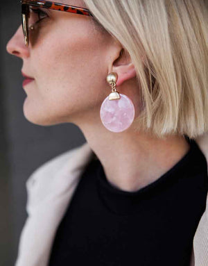 Izoa Bittersweet Earrings Pink
