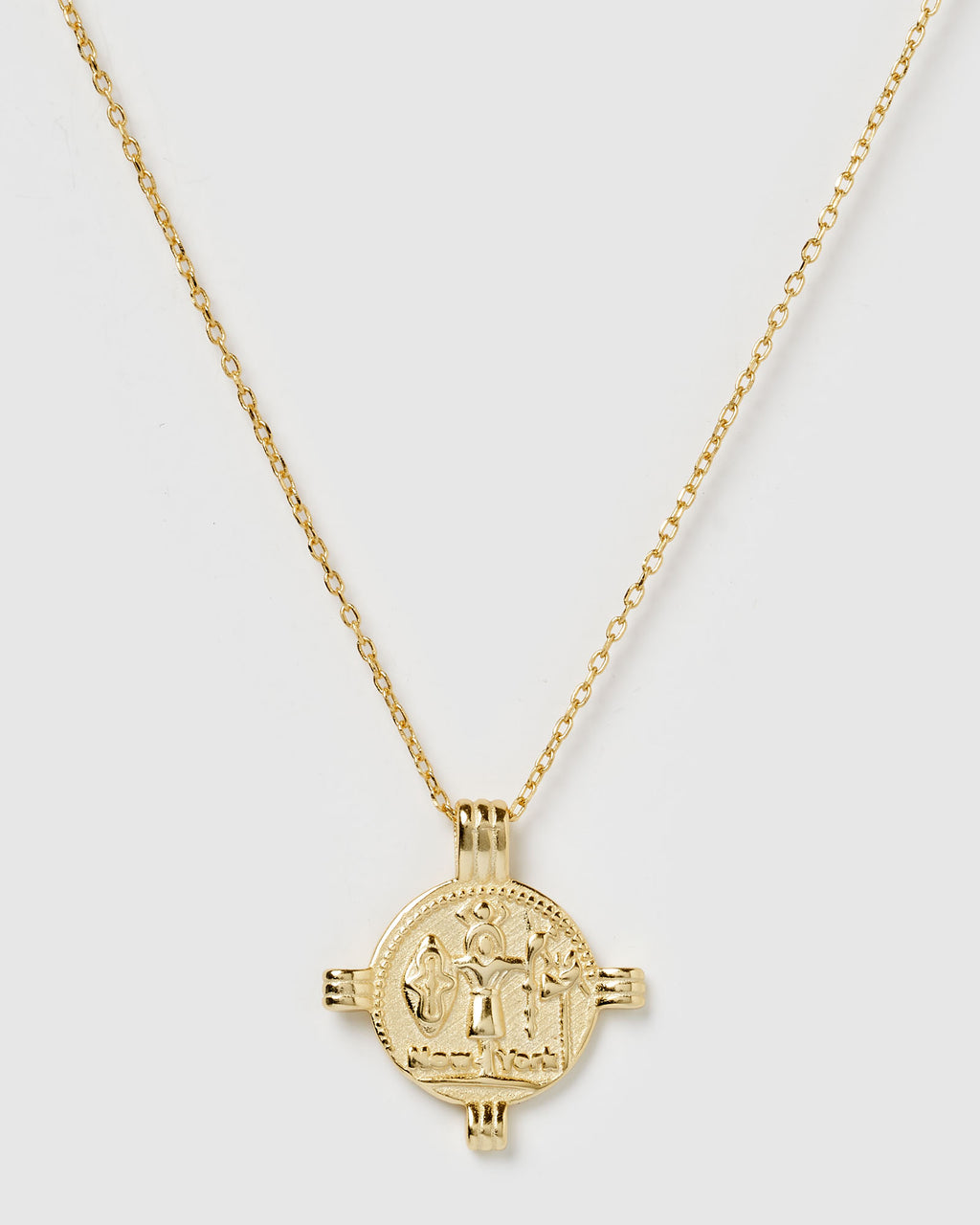 Izoa Blessings Pendant Necklace Gold