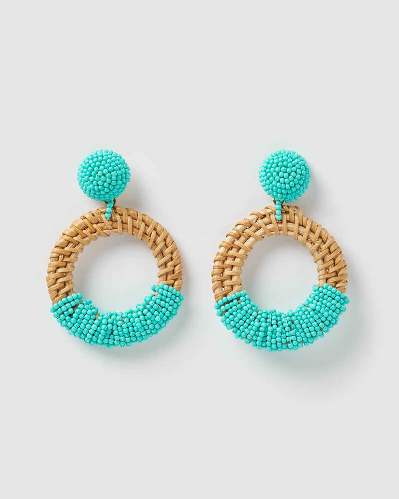 Izoa Blossom Earrings Mint
