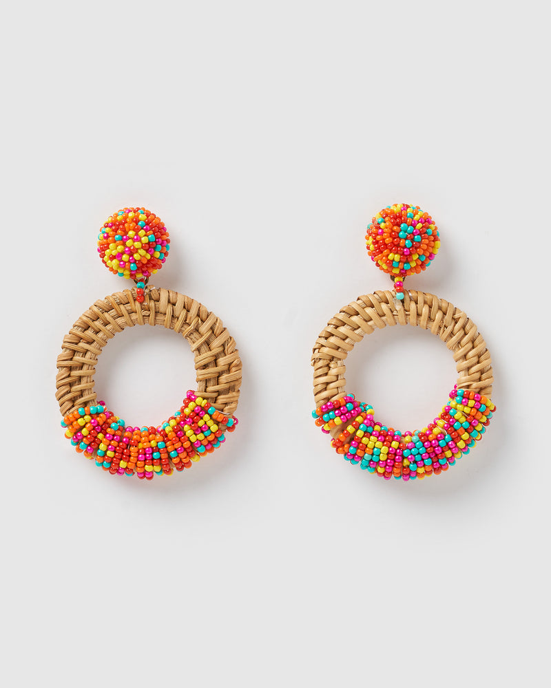 Izoa Blossom Earrings Multi