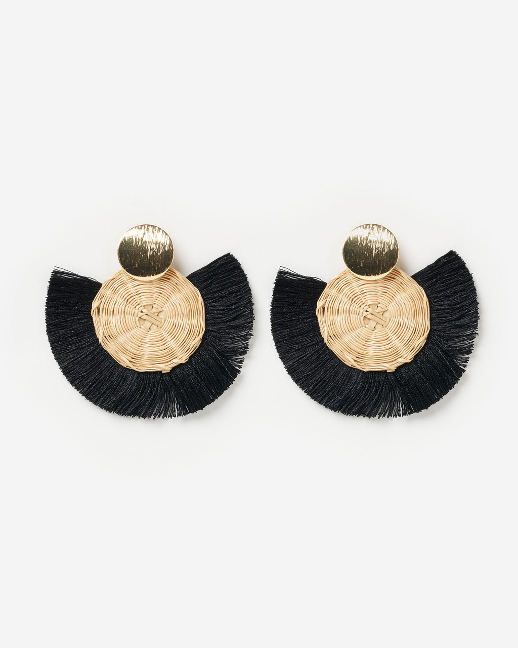Izoa Bohemian Earrings Black