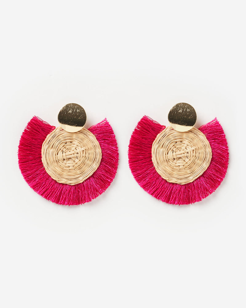 Izoa Bohemian Earrings Magenta
