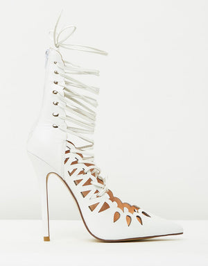 The Breanna Heels White by SBB The Label (SIZE 37 ONLY)