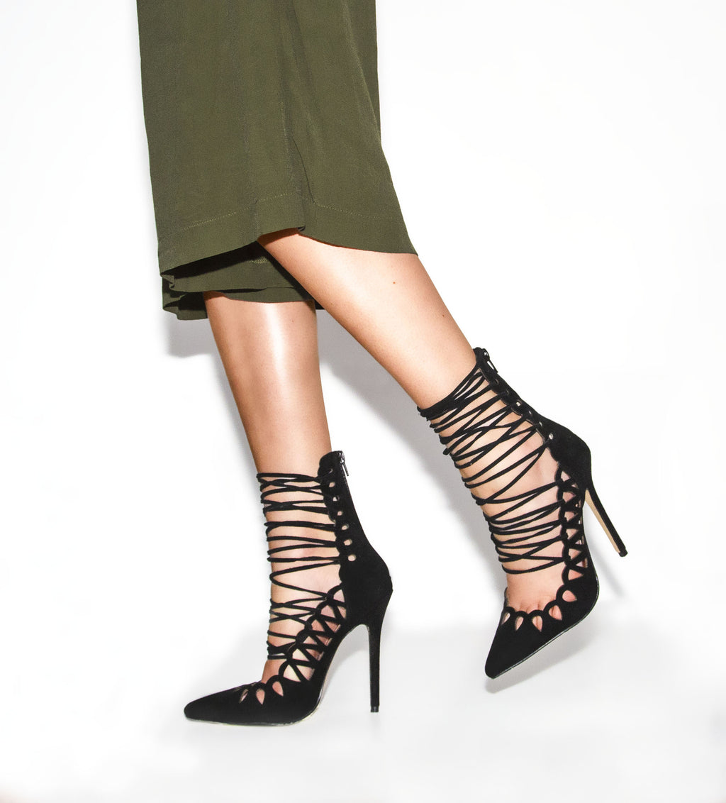 The Breanna Heels Black Suede by SBB The Label (SIZES 35 & 37 ONLY)
