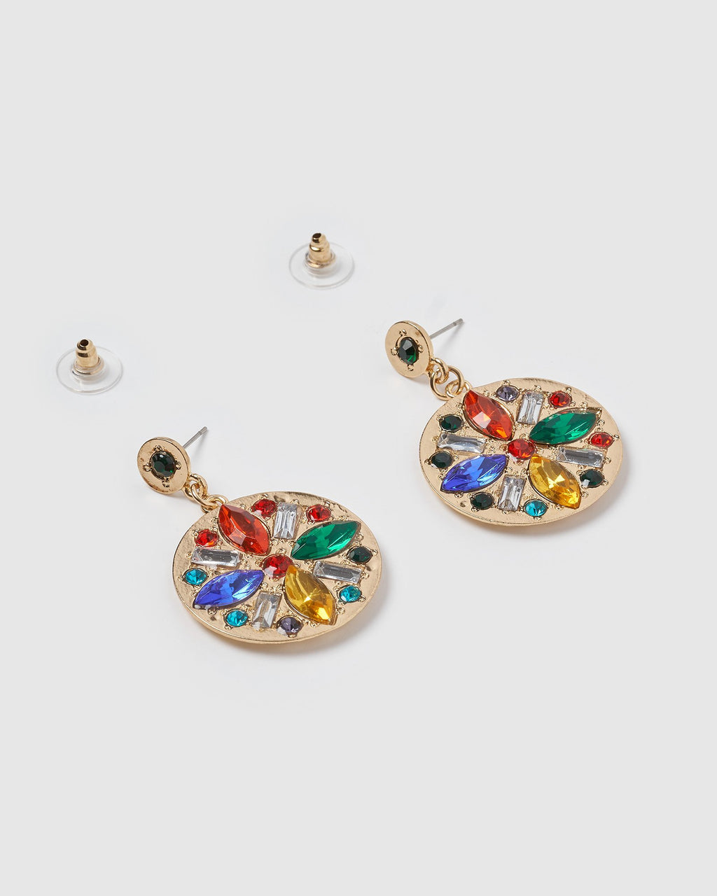 Izoa Bella Disc Earrings Multi