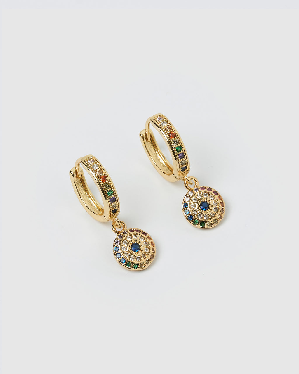 Izoa Betty Huggie Earrings Gold Multi