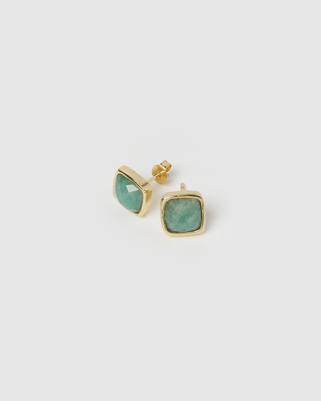 Miz Casa & Co Billows Stud Earrings Rose Jade