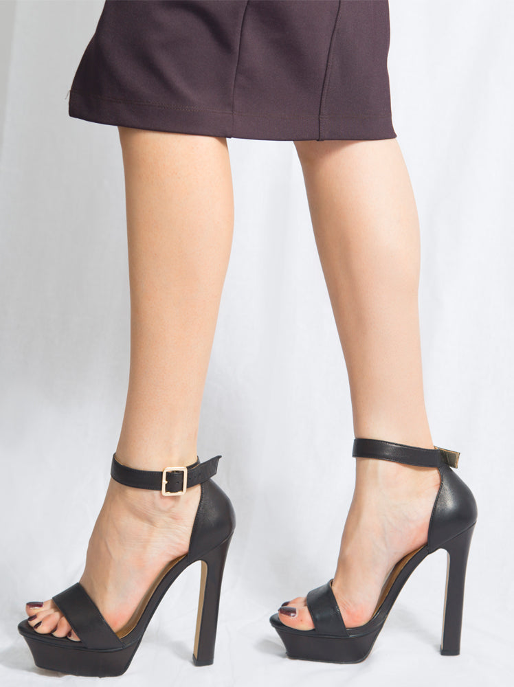 Izoa Candice Heels Black (SIZES 36 & 39 ONLY)