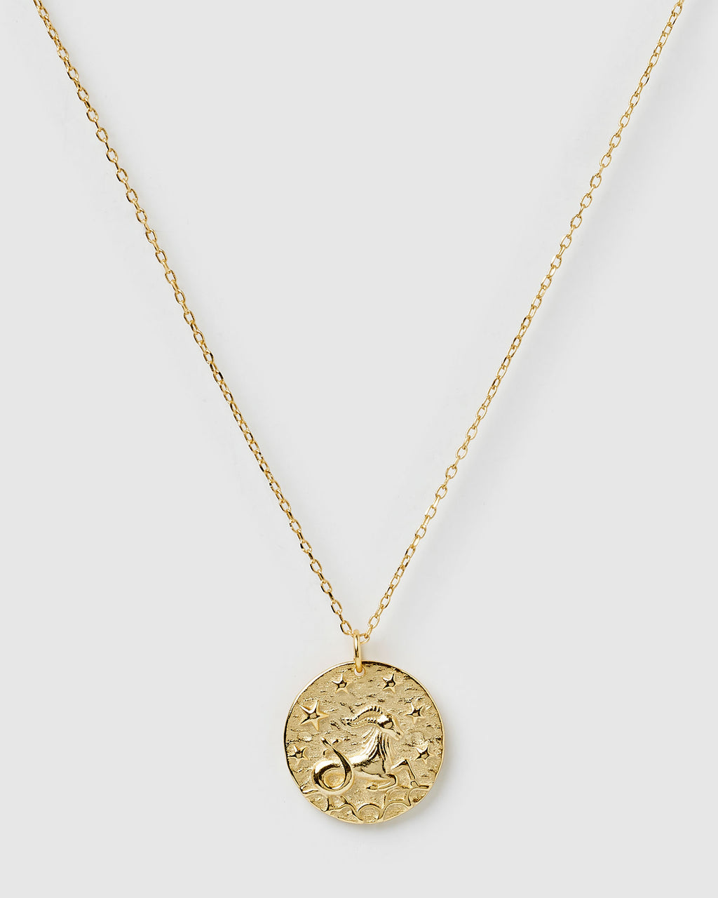 Izoa Star Sign Necklace Capricorn Gold