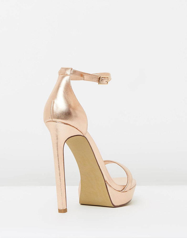 Izoa Cara Heels Rose Gold