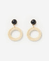 Izoa Catrine Earrings Natural Black