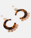 Izoa Celestial Earrings Tortoise Shell
