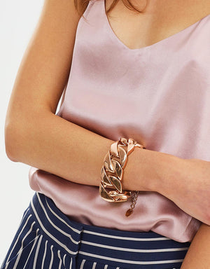 Izoa Chain Link Bracelet Rose Gold