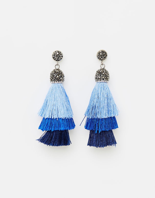 Izoa Chi Chi Earrings Blue Navy