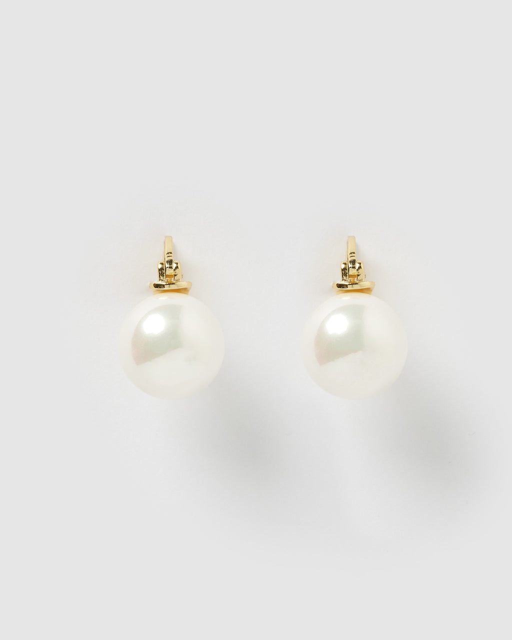 Izoa Claire Earrings Gold Pearl