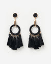 Izoa Claudette Earrings Black