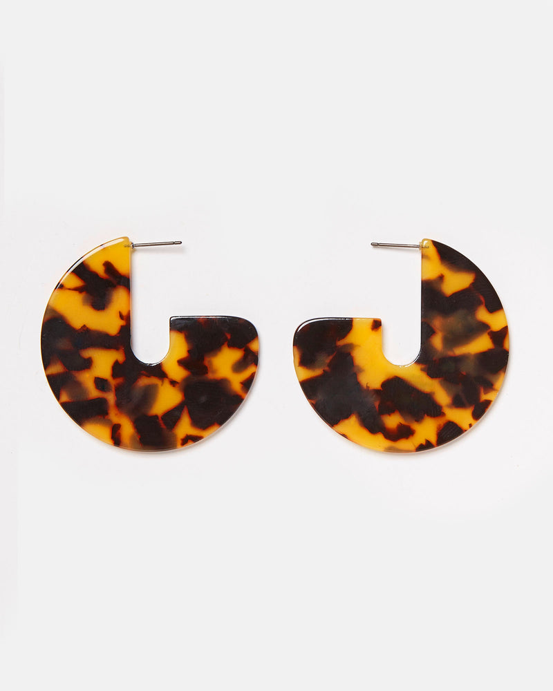 Izoa Coco Earrings Tortoise Shell