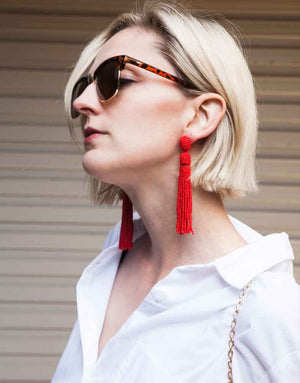 Izoa Collector Earrings Red